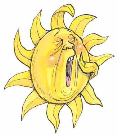Sun yawning