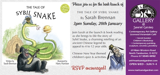 Secret Garden launch invitation Sybil Snake 2013