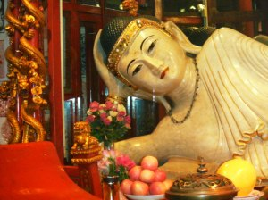 Jade Buddha reclining