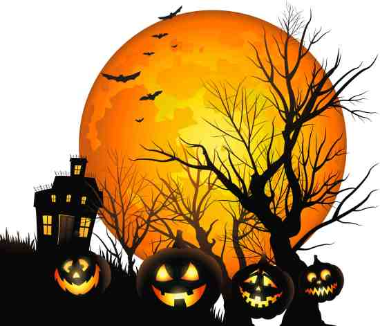 Large_Haunted_ House_and_Moon_PNG_Clipart