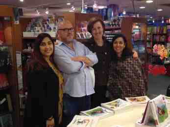 BOOKAZINE LAUNCH #9 HARRY, ARTI AND SHONEE AND MYSELF!
