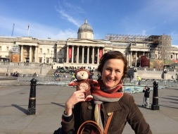 In Trafalgar Square with Mum