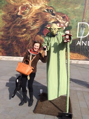 The Getting of wisdom - Posing with Yoda!