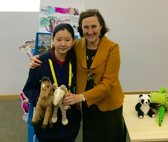 With Grade 9 student Tori Gu