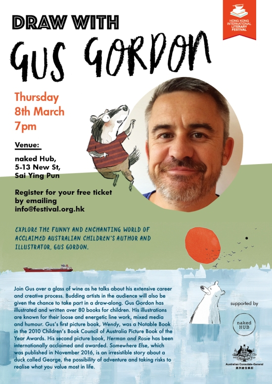 Gus Gordon event, 8th March 2018