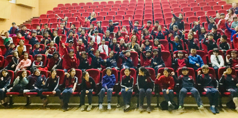 Sarah B with JS students